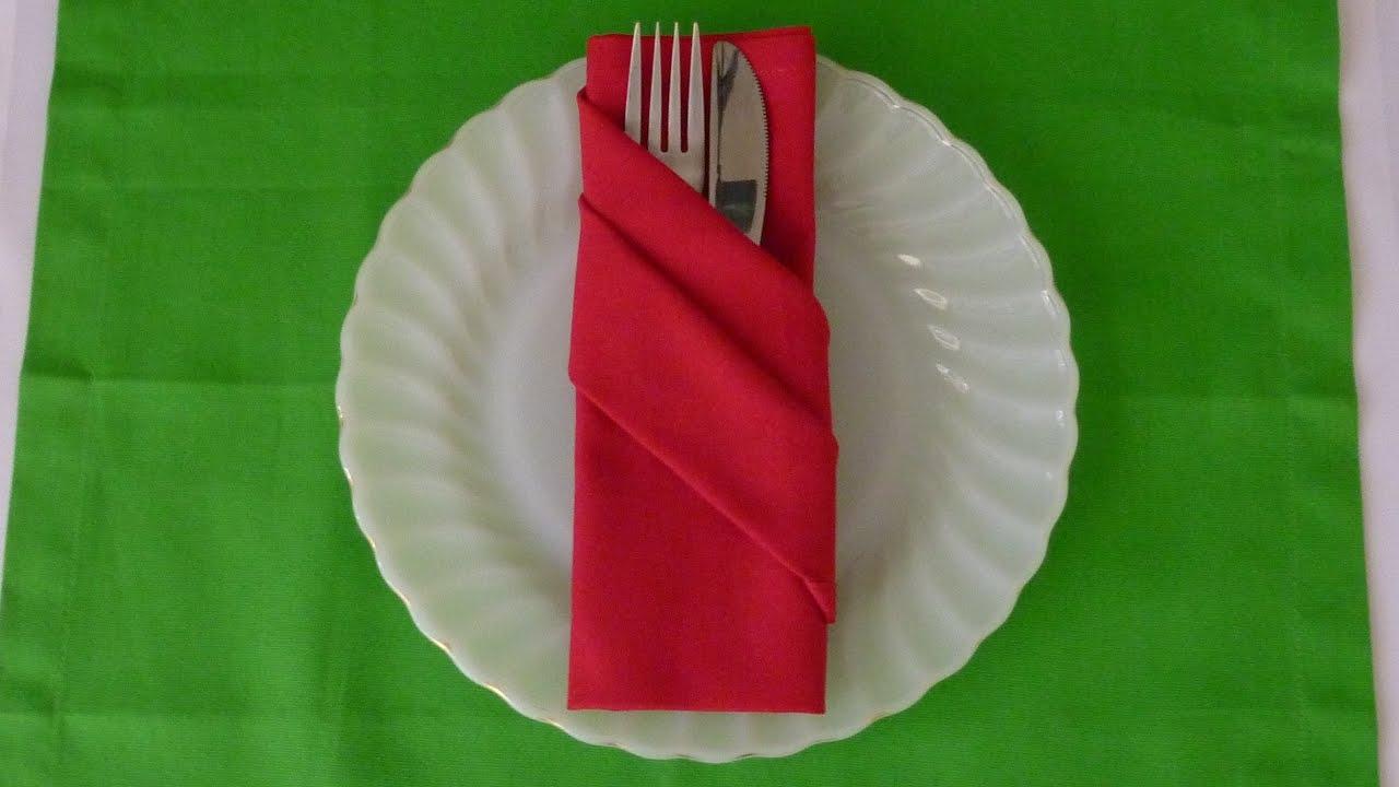 Napkin Folding - Buffet Pouch - YouTube