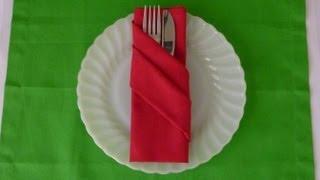 Napkin Folding - Buffet Pouch
