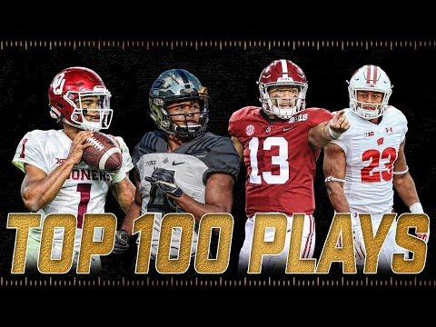 Top 100 Plays of the 2018-2019 College Football Season