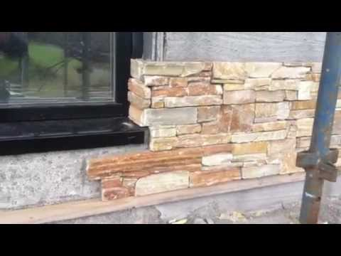 How To Fit Stone Panel Around The Window Youtube