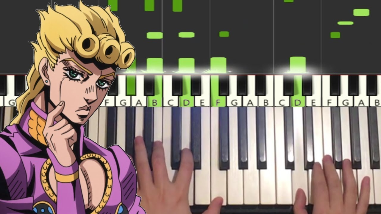 Giorno S Theme Piano Tutorial Lesson Youtube