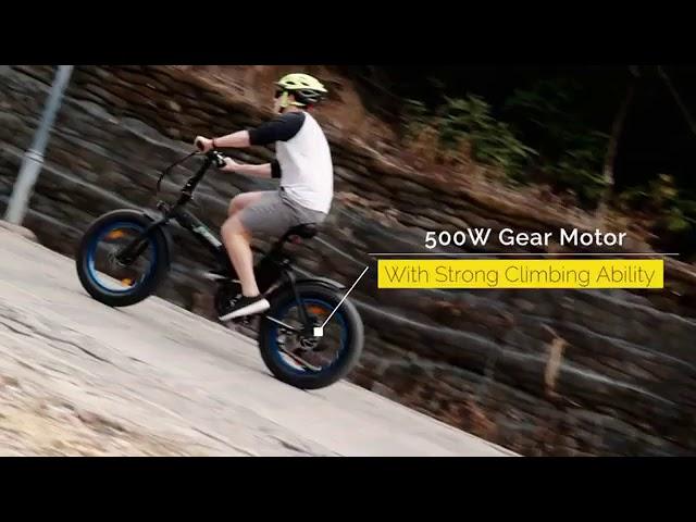 Ecotric 20 Fat Tire Bike - Folding Electric Bike - (2019) 🔥 ✅