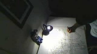 drawing late at night Robotech graffiti style