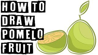 How To Draw Pomelo Fruit Step By Step Speed Drawing Expert