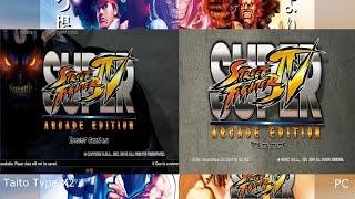 Super Street Fighter IV: Arcade Edition - Taito Type X² vs. PC Intro Comparison