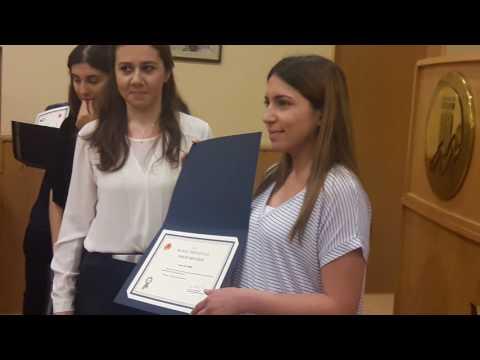 Mersin Üniversitesi 2015 - 2016 Onur Belgesi Töreni