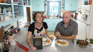Cooking Tutorial 1943 Lilly Wallace Cookbook: Fried Chicken and Spinach Timbales