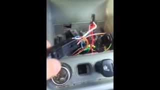 Подключение кнопки противотупанных фар и подогрева сидений