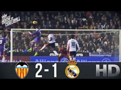Valencia vs Real Madrid -2-1 All Goals and Highlights (La Liga) 22.02.2017 HD