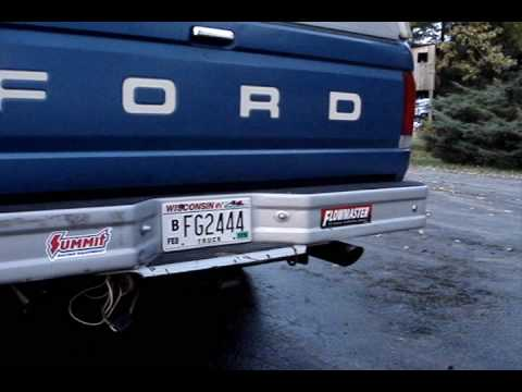 F150 4.9L 300 i6 Straight Six Flowmaster 40 Exhaust - YouTube