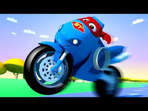 The Motorbike Truck ! Carl The Super Truck - Car City ! Cars And Trucks Cartoon For Kids