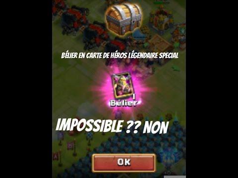 Clash De Château- Avoir Un Belier En Carte De Heros Légendaire SPECIAL