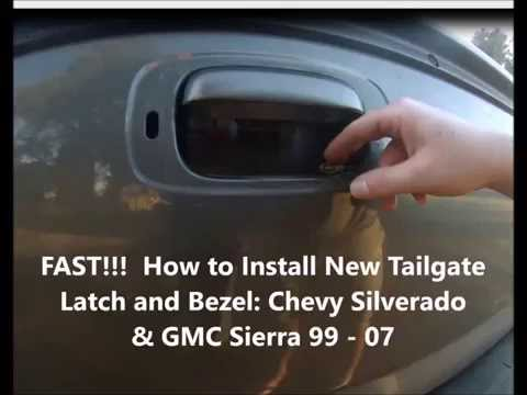 Tailgate Latch Handle And Bezel For Chevy Silverado Sierra Truck 99-06 Textured