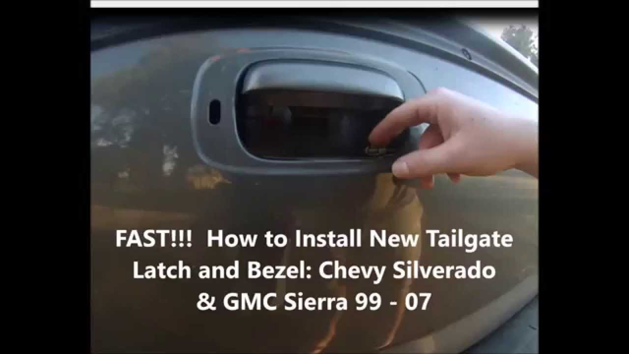 Fast Install Truck Tail Gate Latch And Bezel Chevy