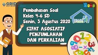 Pembahasan Soal TVRI SD Kelas 4-6 Senin 3 Agustus 2020 - Sifat Asosiatif Bilangan #BelajardariRumah