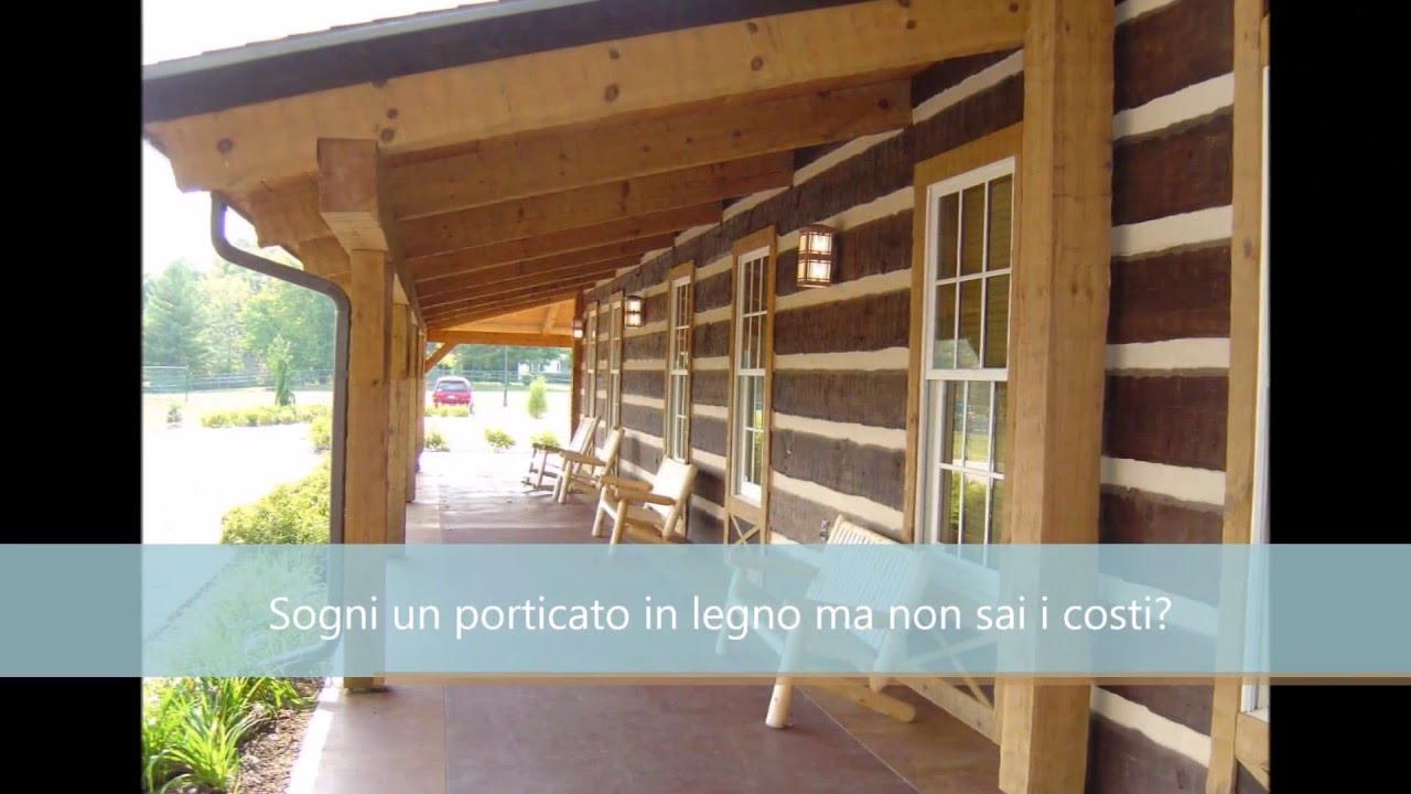 Costo porticato in legno edilnet it youtube for Tettoie in lamellare