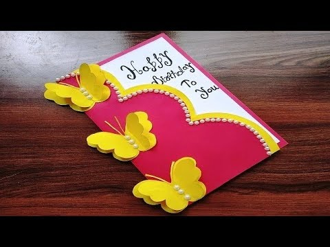 DIY - Beautiful Handmade Birthday card | Birthday card idea | DIY Gift Idea...