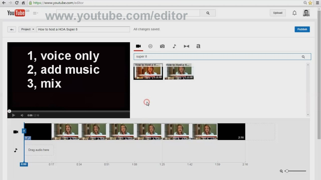 using the youtube editor for the perfect audio music mix - youtube