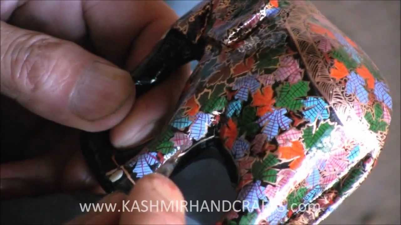 Making of decorative papier mache craft in kashmir youtube making of decorative papier mache craft in kashmir jeuxipadfo Image collections