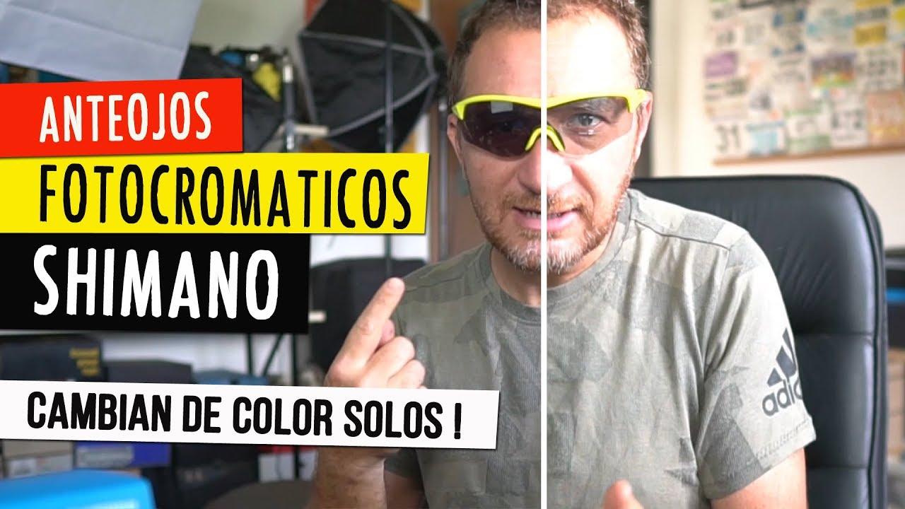 caf6fd2790 GAFAS FOTOCROMÁTICAS SHIMANO: cambian de color solas !!! - YouTube