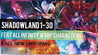 Shadowland 1-30: Feat. Infinity Warp Characters & New Uniforms (Update 4.4) - Marvel Future Fight