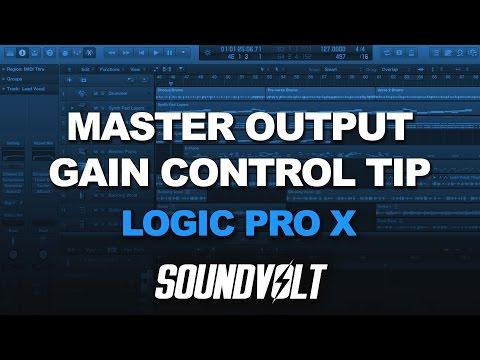 Logic Pro X - Master Output Gain Control Tip & Trick