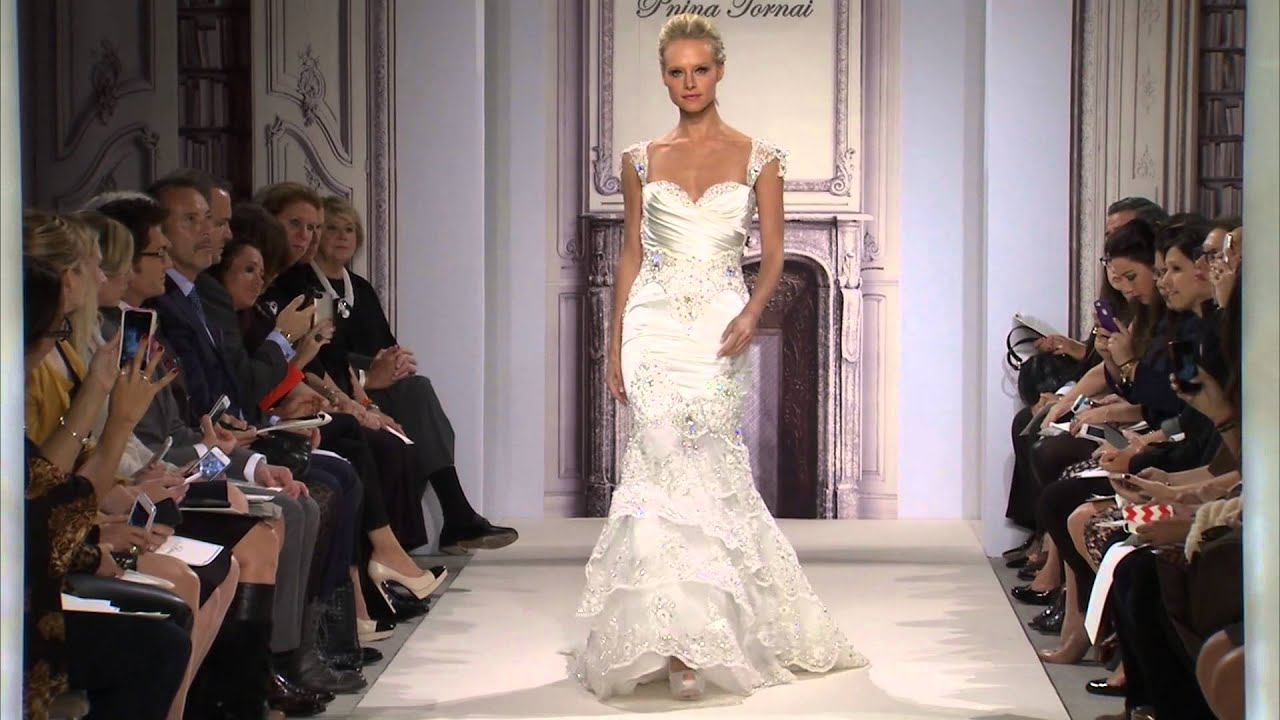 Pnina tornai for kleinfeld 2014 bridal collection youtube junglespirit Images