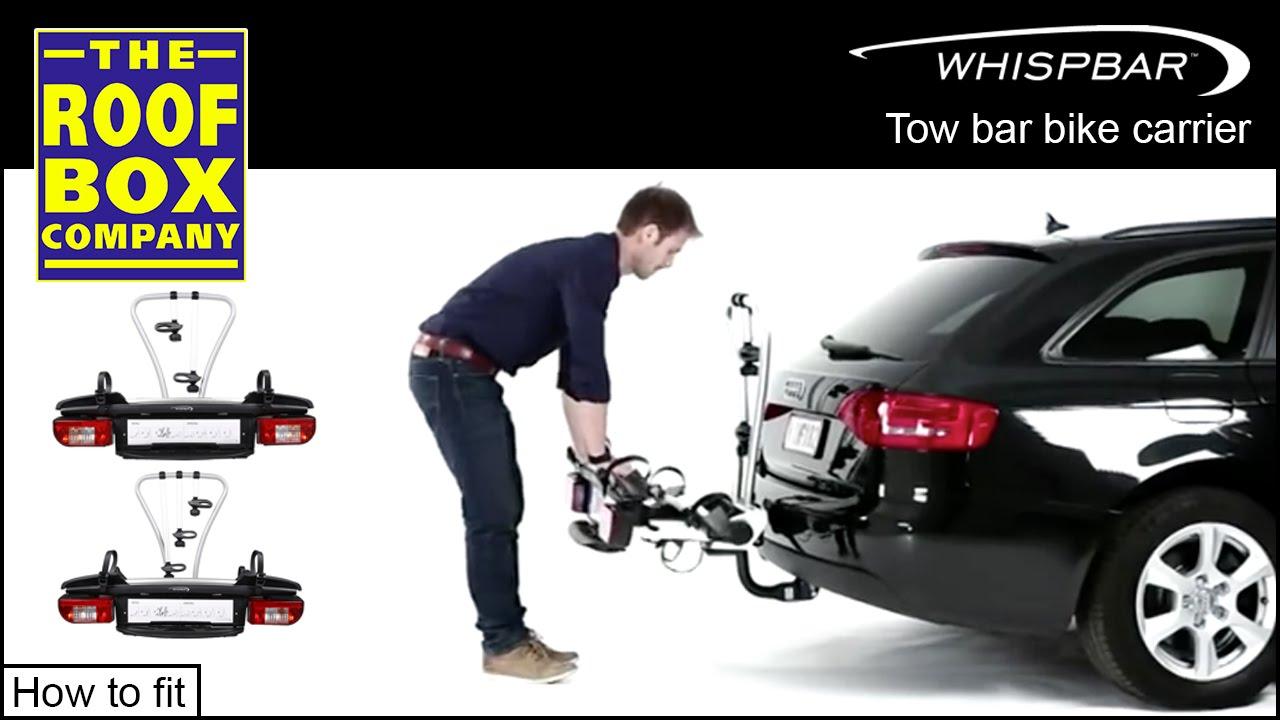 yakima whispbar cykell tow bar bike carrier how to fit