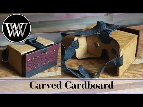 Google Cardboard Made of Wood and Carved Useing Only Hand Tool Woodworking
