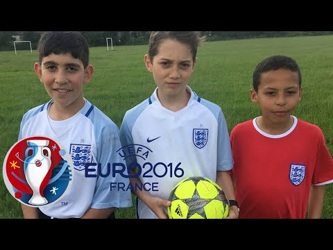Euro 2016 - England Football Team Highlights and Goals - Reenacted By Kids!