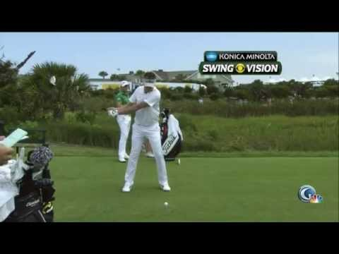 Ian Poulter swing. Slow motion. Driver. Pro Analysis from Nick Faldo