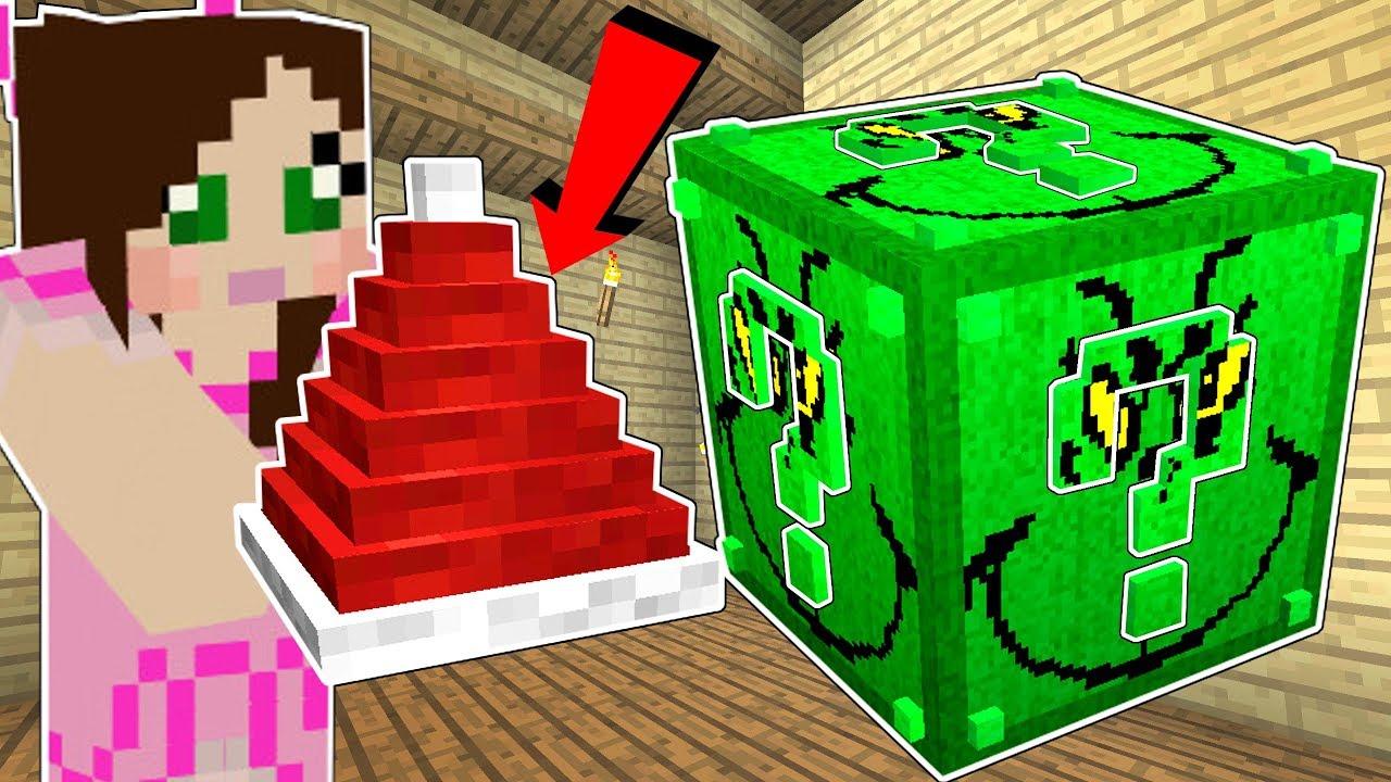 Minecraft: THE GRINCH LUCKY BLOCK!!! (PRESENT LAUNCHER, GRINCH BOSS, & MORE!) Mod Showcase