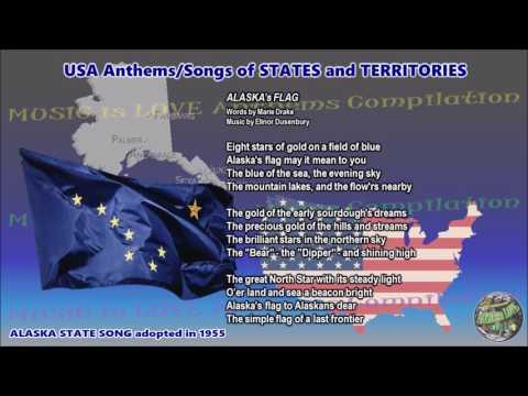Alaska State Song ALASKA's FLAG with music, vocal and lyrics English