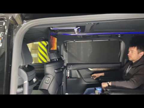Toyota Alphard потолочный монитор и Apple TV