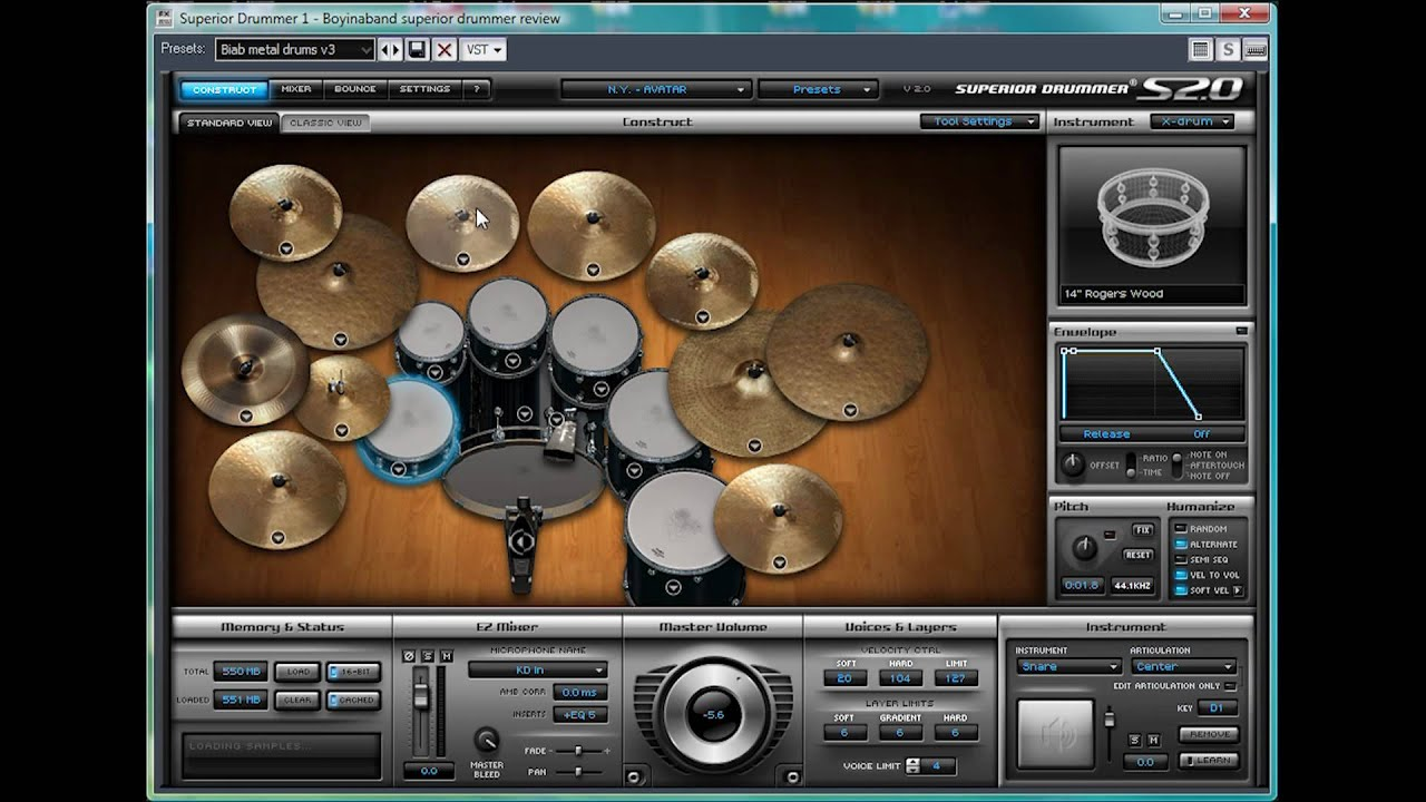 Superior Drummer 2 (interfaz) + Keygen 32 & 64 bits 91Mb