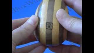 The Egg Japanese Puzzle Box By Akio Kamei !