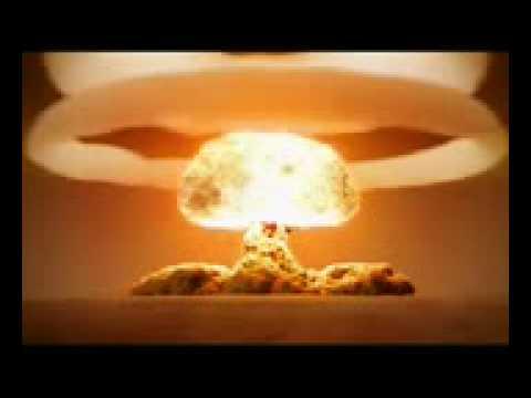 ядерный взрыв, красивый гриб