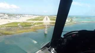 jmsdf p3 c landing to naha airport view from the cockpit