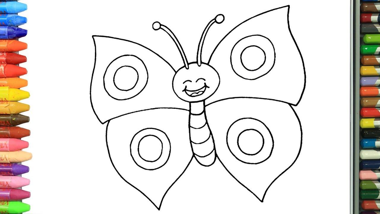 Wie zeichnet man Schmetterlinge | Zeichnen und Ausmalen für Kinder ...
