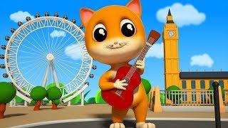Pussy Cat | Junior Squad Cartoon Video | Kindergarten Nursery Rhymes By Kids Tv