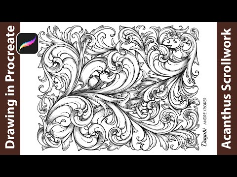 How To Draw An Acanthus Scrollwork - Digital Painting From Sketch To Final