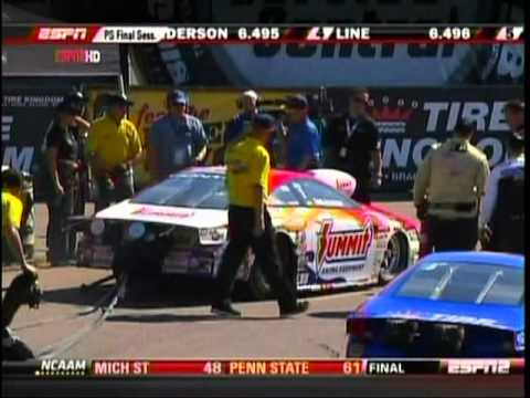 Erica Enders Interview WooHoo Greg Anderson Fire Pro Stock Qualifying Final SessionThe Gator Nationals 2011 Drag Racing