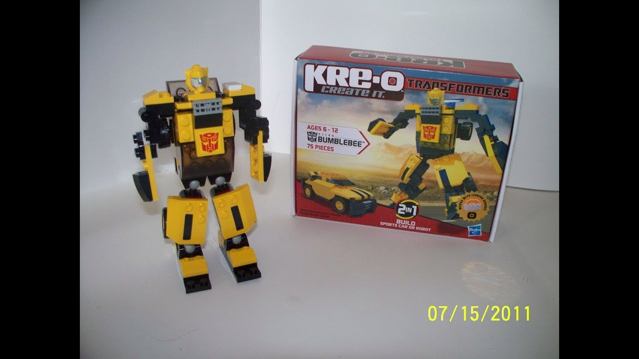 Kre O Transformers Bumblebee 75 Piece Set Toy Review Youtube