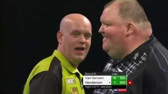 M. van Gerwen vs. John Henderson | Premier League 2019 | German commentaries