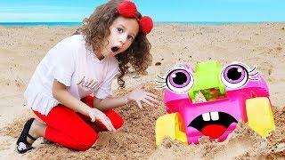 Aventuras do carrinho de brinquedo de Valentina e mamãe