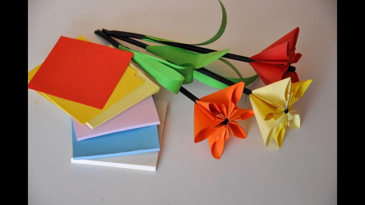 Kwiaty Z Papieru Krok Po Kroku Paper Flower Diy Youtube