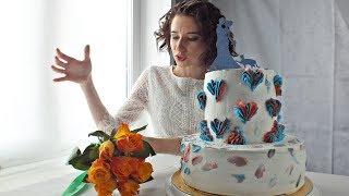 Свадебный торт: Медовик и Черёмуховый