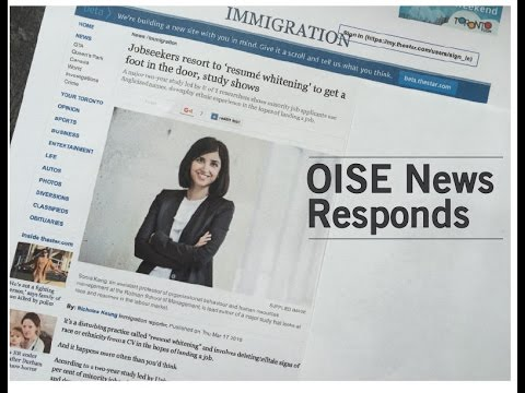 """Resumé  whitening"": OISE News responds"