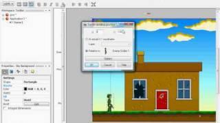 jak zrobić długi ekran w programie the games factory 2