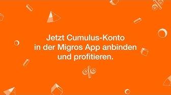 Cumulusanbindung in der Migros App